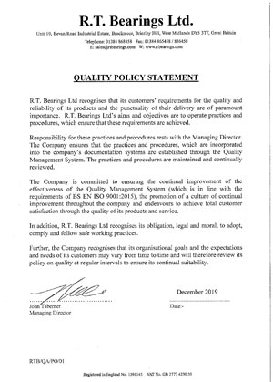 Quality Statment